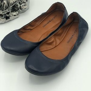 Lucky Brand Emmie Navy Blue Ballet Flat